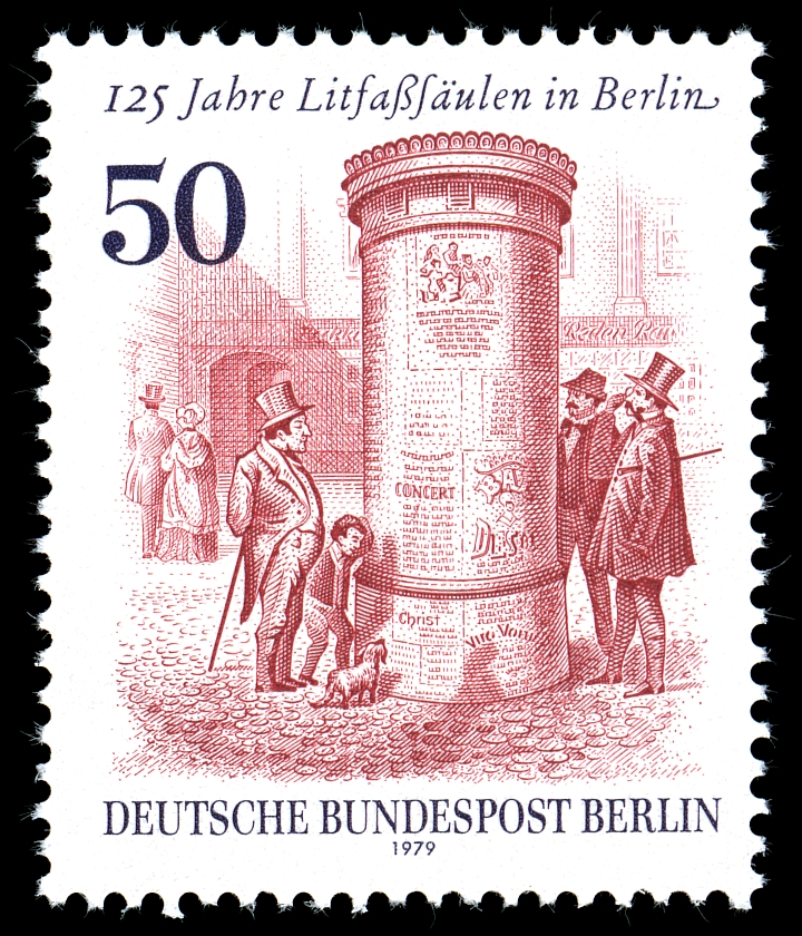 125 lecie instalacji pierwszego słupa ogłoszeniowego w Berlinie